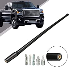 SpeeVech 13 Inch Flexible Rubber Replacement Antenna, Optimized FM/AM Reception Fits for 1985-2019 Chevy 1500 Silverado & GMC Sierra/Denali