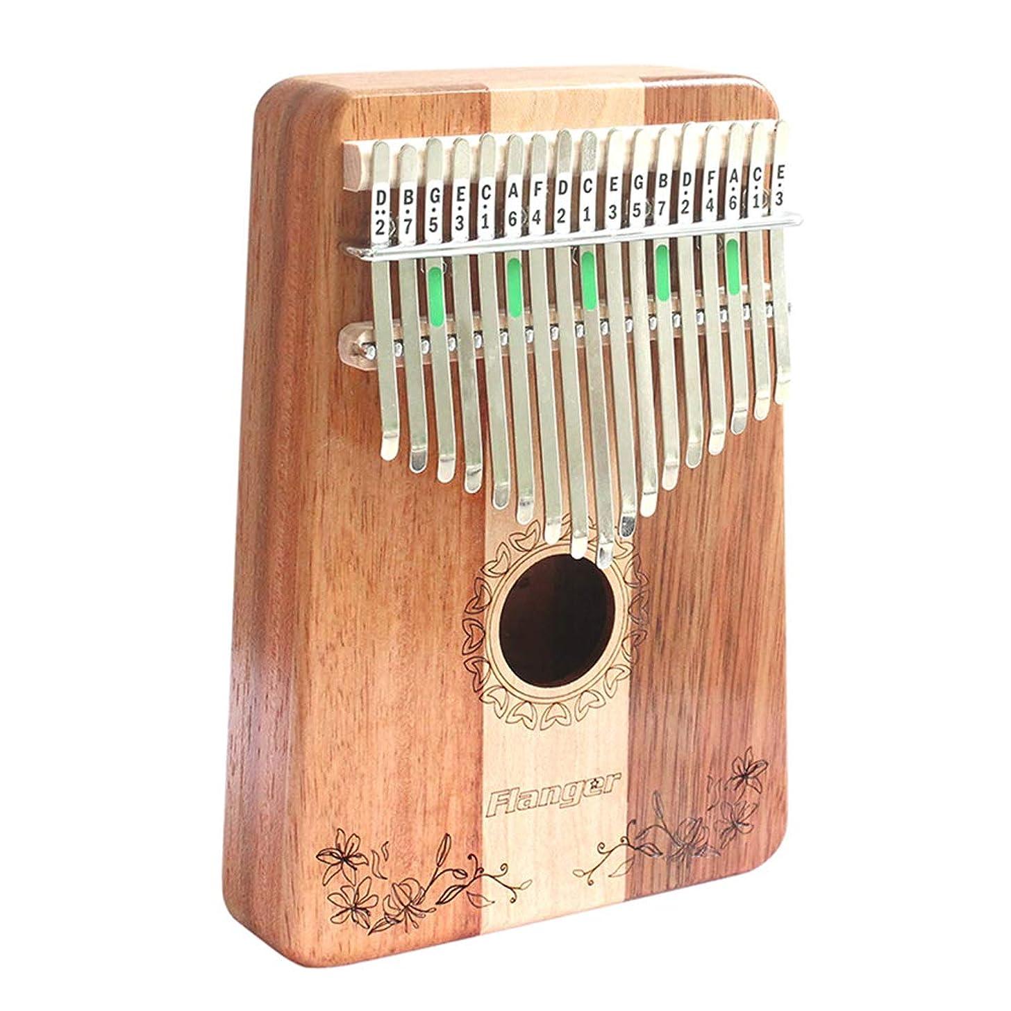 Flanger Kalimba 17 Keys Portable Thumb Piano with Instruction and Tune Hammer Solid Finger Piano Mahogany Body (FK-17)