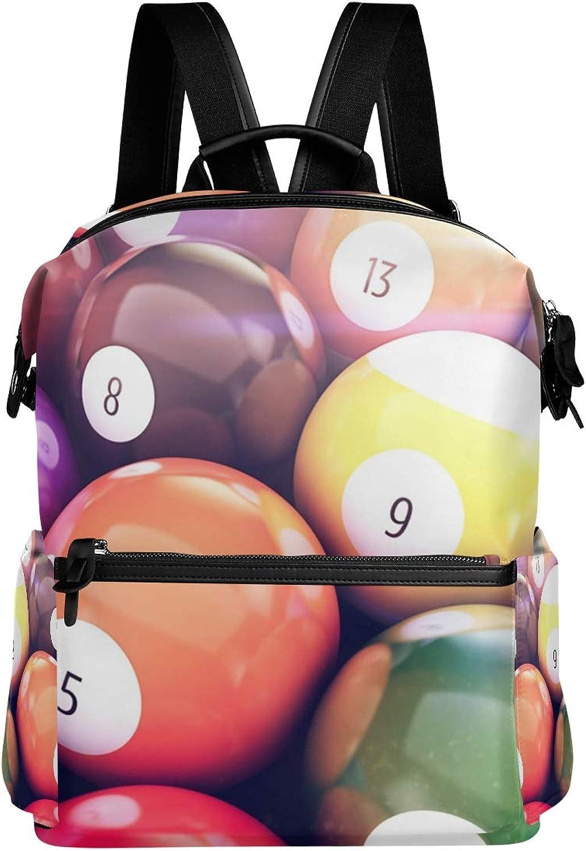 MONTOJ Billiard Pool Balls Leather Travel Bag Campus Backpack