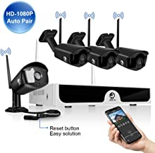 JOOAN Full HD 2MP Wireless Security Camera System 4x1080P WiFi Camera Home Store Business Surveillance Remote Monitoring W...