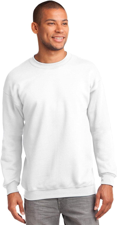 Port & Company Tall Ultimate Crewneck Sweatshirt>4XLT White PC90T
