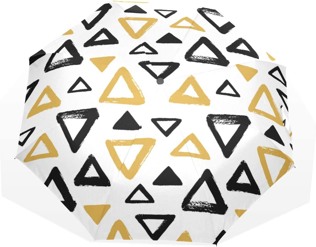 NEW Best Travel Umbrellas Sale price Geometric Abstract Fashion Fold Triangle 3