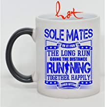 Cool Runner Cup, Sole Mates In It For The Long Run Going The Distance Running Together Change color mug (Color Changing Mug 11oz),Color Changing Mug,Mug 11 Oz