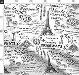 Schwarz, Weiß, Frankreich, Paris, Nostalgisch, Vintage