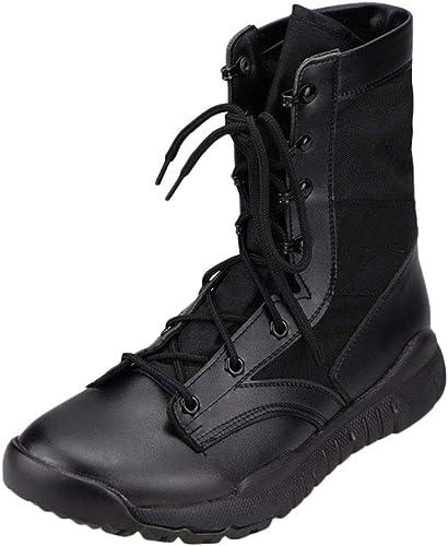 Liabb Hommes Bottes Militaires Desert Combat Tactics Chaussures Delta Forces Spéciales Armée Botte Armée Randonnée en Plein Air Randonnée Sécurité Chaussure De Randonnée,noir,37