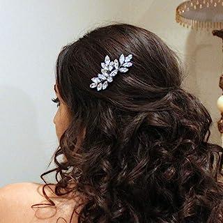 Jakawin عروس شانه مو عروسی شانه لوازم جانبی مو عروس قطعه مو برای زنان و دختران HC047S