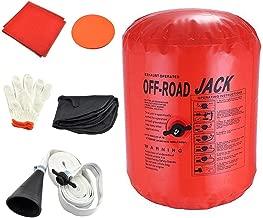 Vogvigo Exhaust Air Jack Inflatable Car Jack Inflatable Jack Exhaust and Pump Dual Use Exhaust Jack Off Road Lifting Air Bag Off Road Jack Vehicle Car Truck Rescure 4 Ton/8800LBs (Orange)