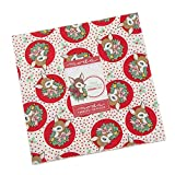 Deer Christmas Layer Cake, 42-10' Precut Fabric Quilt Squares by Urban Chiks