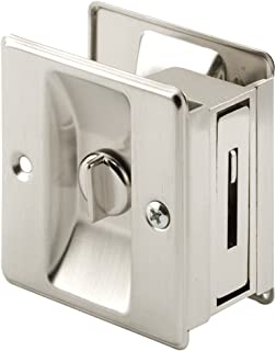 Prime-Line N 7239 Pocket Door Privacy Lock, 1 Pack, Satin Nickel
