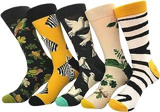 5 pares calcetines estampados hombre calcetines divertidos de algodon calcetines de colores de moda