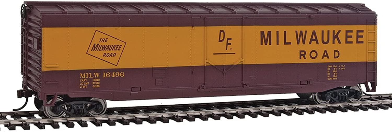 WalthersTrainline Ready to Run Milwaukee Road Boxcar Red Yellow