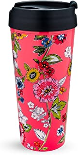 Vera Bradley 16 Ounce Thermal Travel Mug (Coral Floral)