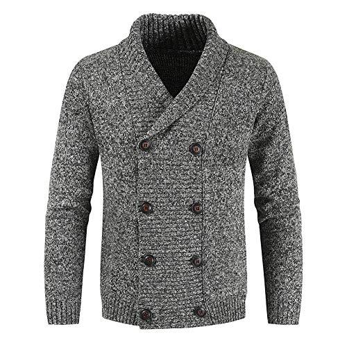 Suéter para Hombre, cárdigan, Caballero, Guapo, Informal, Cruzado, suéter, cárdigan, otoño e Invierno, Moda, suéter cálido Informal M