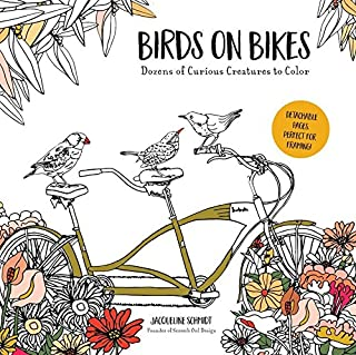 Birds on Bikes: And Dozens of Other Curious Creatures to Color