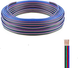 Fntek 50ft 4 PIN RGB Extension Cable Line, RGB Wire Cord for 5050 3528 RGB LED Strip Lights 4 Color