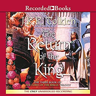 The Return of the King     Book Three in the Lord of the Rings Trilogy              Auteur(s):                                                                                                                                 J. R. R. Tolkien                               Narrateur(s):                                                                                                                                 Rob Inglis                      Durée: 18 h et 19 min     214 évaluations     Au global 4,8