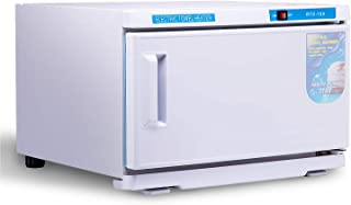 Barberpub 2in1 16L UV Sterilizer Hot Towel Warmer Cabinet Facial Skin Spa Massage Hair Beauty Salon Equipment TS05 (White)