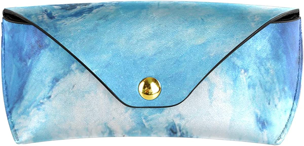 Sunglasses Case Eyeglasses Pouch Goggles Bag Wallet Multiuse PU Leather Winter Pattern Abstract Wolf Portable
