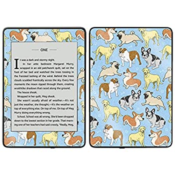 MightySkins Glossy Glitter Skin for Kindle Paperwhite 2018 Waterproof Model - Puppy Party | Protective Durable High-Gloss Glitter Finish | Easy to Apply Remove and Change Styles | Made in The USA