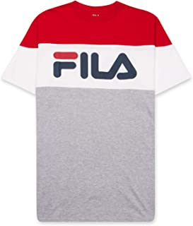 Fila Men's T Shirt for Big and Tall Men - Color Blocking Short Sleeves and Logo Vialli