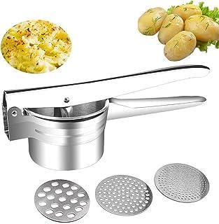 comprar comparacion Puré de Patatas, Heavy Class Potato Prensa Ricer Slicer para Hortalizas, Frutas, Huevos, Puré de Papas - Acero Inoxidable ...