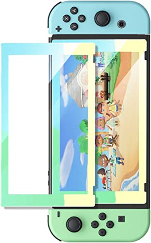 wholesale UGREEN Switch Screen Protector for discount Nintendo Switch Tempered Glass Screen Animal new arrival Crossing Color Border with Transparent HD Anti-Scratch(Blue/Green/Yellow) online sale
