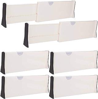 LLKK Séparateurs de tiroirs Extensibles,séparateurs d'organisateur,organisateurs de tiroir de Commode réglables avec organ...
