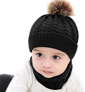 YueLian Cute Bowknot Knit Warm Hat for Baby Girls Winter