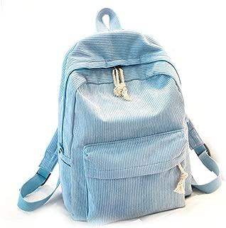 Backpack Velvet Lightweight Travelling Backpack Durable Casual Daypack(light blue)(one size)