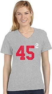 Pro Trump 45 2 President Donald Trump USA 2020 V-Neck Fitted Women T-Shirt