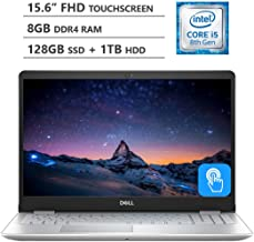 "2019 Newest Dell Inspiron 15.6"" Full HD LED-Backlit Touchscreen Laptop, Intel Core i5-8265U Processor up to 3.9GHz, 8GB RAM, 128GB M.2 SSD + 1TB HDD, Backlit Keyboard, Wireless-AC, Windows 10, Silver"