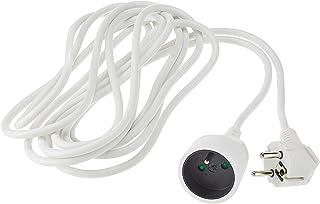 PremiumCord Verlängerungskabel 230V 5m mit Kindersicherung, Stromkabel, Netzkabel, Schuko-Verlängerung, Buchse auf Stecker Typ F, Farbe Weiß PPE1-05 5 m