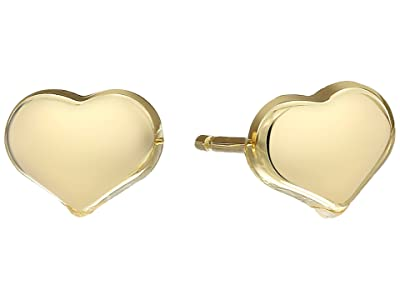 Roberto Coin Solid Heart Stud Earrings Tiny Treasures (Yellow) Earring
