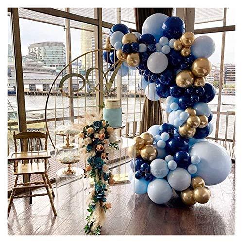 ZHEMAIDZ Ballon 117 stücke Blau Ballon Girlande Bogen Kit Navy Blau Gold Ballons Baby Dusche Hochzeit Geburtstag Party Kinder Erwachsene Dekorationen Liefert décoration (Color : Navy Blue Gold Arch)