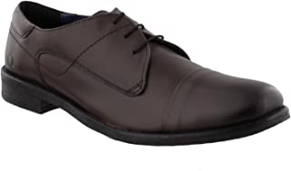 Chatham Mens Ripon Leather Derby Shoes In Black In Size UK7 to UK15