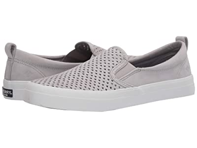 Sperry Crest Twin Gore Scalloped Perf (Grey) Women