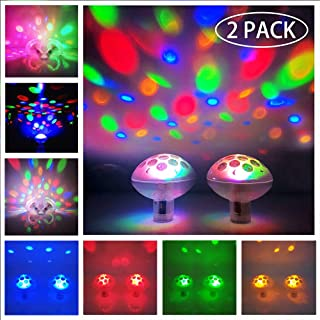 Floating Pool Lights Pool Lights Waterproof Baby Bath Lights for The Tub(7 Lighting Modes) Colorful Bathtub Toy Lights Disco Pool Party Lights for Pond Hot Tub Party Decorations 2 Pack