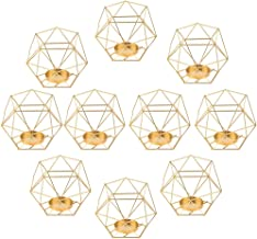 Fenteer 10pcs 3D Geometric Candle Holder,Metal Nordic Style Candlestick,Centerpieces for Wedding, Home Decor, Ceremony and...