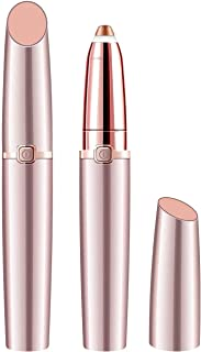 2019 Upgraded | Eyebrow trimmer for women & men, Painless & Portable & Precision Electric Trimmer with LED Light, Eyebrow Hair Remover, Eyebrow Razor | Rose Gold(Batteries not Included)