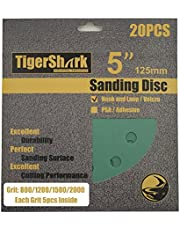 TigerShark 5inch 8hole Film Sanding discs Hook and Loop Wet & Dry…