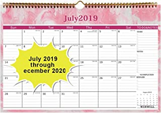 Calendar 2019 - Wall Calendar 2019-2020 Calendar with 18 Months,Thick Paper Perfect for Organizing & Planning 15×10 inch