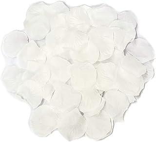 Ben Collection 300 Pieces Silk Rose Petal Wedding Decoration (White)