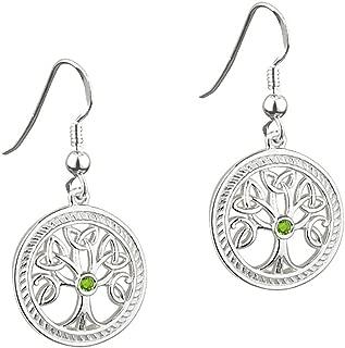 Solvar Sterling Silver Irish Celtic Tree of Life Earrings