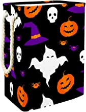Laundry Bag Happy Halloween Element Large Storage Bin Storage Basket Clothes Laundry Hamper Toy Storage Bin
