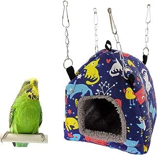 Bird Plush Hammock Parrot Hanging Snuggle Cave Happy Hut Tent for Parakeet Cockatiel Conure Lovebird Budgie Hamster Gerbil Rat Chinchilla Squirrel Cage
