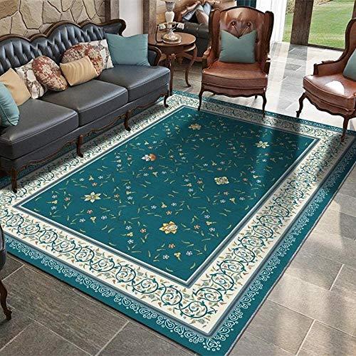 Alfombra para el salón o el hogar, sencilla y moderna, para el dormitorio, rectangular, de 1,2 x 1,6 m