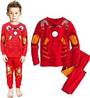 Boys Pajamas Sets Children Pants 100 Cotton Spider-man Long Kids Snug Fit Pjs Winter Toddler Sleepwear