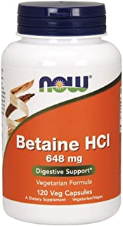 NOW FOODS Betaine Hcl, 120 Count