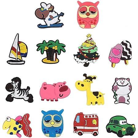 whatUneed Magneti per Frigorifero per Bambini, 14 Pz Catoon Animali Impianto Magnete per Auto Set Magneti da Frigorifero per Lavagna Educativo Casa Aula Cucina e Ufficio