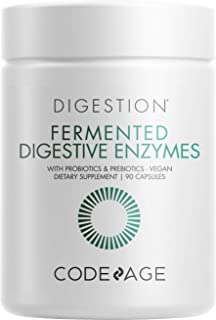 Sponsored Ad - Codeage Fermented Digestive Enzymes Supplement - Probiotics, Prebiotics, Vitamins - Stomach & Food Enzyme -...